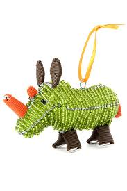 zenzulu beaded rhino ornament ornaments