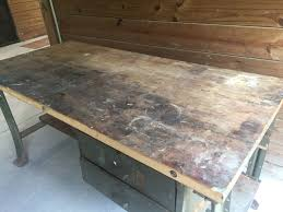 everything has potential u2026 industrial desk from old workbench