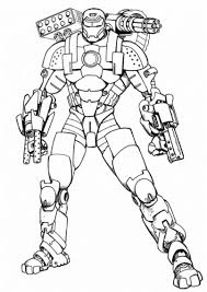 coloriage iron man super héros et dessins à colorier coloriage