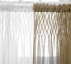 Pottery Barn Curtain Hardware Pottery Barn Smocked Drapes Decor Look Alikes