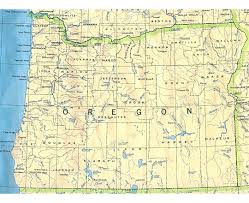 Oregon Map Outline by Large Detailed Map Of Oregon State Oregon State Usa Maps Of