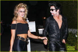 kevin durant halloween costume matthew bellamy does bloody u0027grease u0027 costume with elle evans