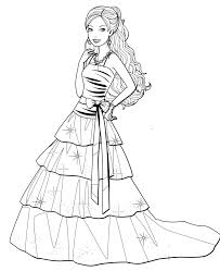 fashion dress coloring pages for your little girls coloring pages