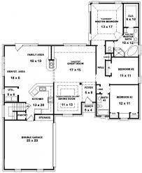 floor plans for a 4 bedroom 2 bath house beautiful 3 bedroom 2