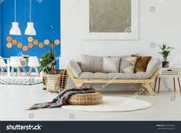 natural design contemporary interior open plan stock photo