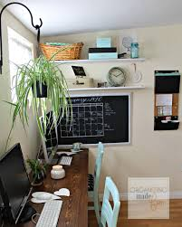 Space Home Adorable Organized Home Office In A Small Rental Home