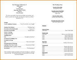 ceremony programs template ceremony template paso evolist co
