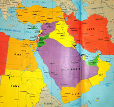 asain map central and southwest asia political map for of middle east and