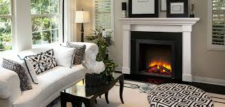 Electric Fireplace With Mantel Simplifire Built In Electric Fireplace Quadra Fire