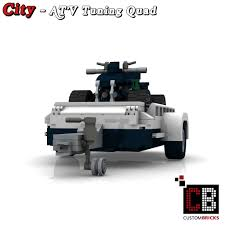 custom lego mini cooper custombricks de lego city anhänger fahrzeug trailer vehicle atv