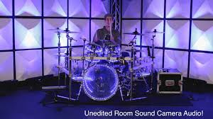 Drum Set Lights Pearl Crystal Beat Clear Acrylic Drums Sound Test Improv