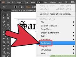 tutorial illustrator italiano how to rasterize in illustrator 13 steps with pictures