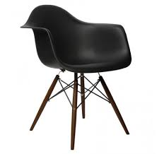 Eames Eiffel Armchair Set Of 2 Eames Style Daw Molded Black Plastic Dining Armchair With