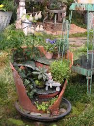 Pot Garden Ideas Flower Garden Broken Pot Search Pots