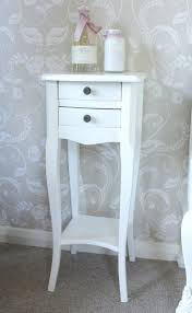Small White Bedside Table Narrow Bedside Table Unique Med Art Home Design Posters