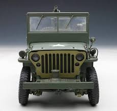 willys army jeep autoart 1943 jeep willys army green w trailer accessories