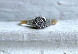 simple vintage engagement rings vintage engagement ring yellow white gold