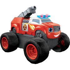 monster trucks toys nickelodeon blaze and the monster machines transforming fire truck