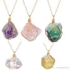 amethyst stone necklace images Wholesale hotsale natural original ore irregular stone necklace jpg