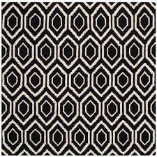 Black And White Throw Rugs White Square 7 U0027 And Larger Area Rugs Rugs The Home Depot