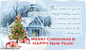 Christmas Cards For Business Clients Happy Holiday Season Free Business Greetings Ecards Greeting