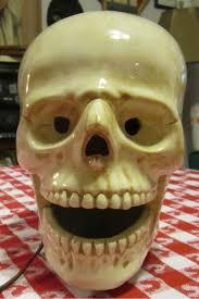 Vintage Atlantic Mold Ceramic Christmas Tree by Vintage 70s Steampunk Goth Gothic Skull Head Ceramic Lamp