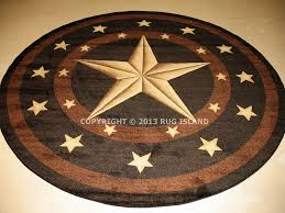 Black And Brown Area Rugs Details About Round Texas Lone Star Rustic Cowboy Western Black