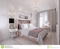 spacious and bright modern contemporary classic bedroom stock