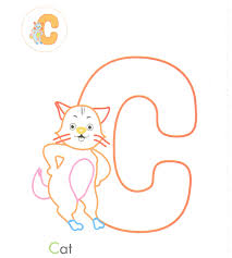 c is for cat coloring page letter c cat coloring page virtren com