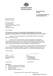 Letter Of Credit In Australia defence s management of credit and other transaction cards