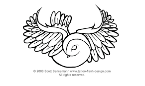 tattoo flash design dove designs