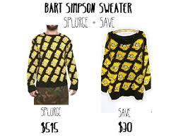 bart sweater ohsummercandy frugal fashion finds friday splurge save bart
