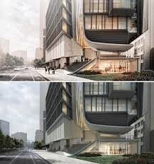 day to night all photoshop visualizing architecture