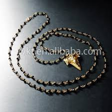 free rosary shark tooth tiny rosary necklace 24k real gold plated free