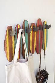 nautical coastal beach cottage home decor surf board coat rack