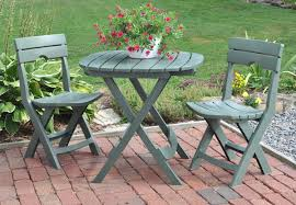 Folding Patio Set With Umbrella Furniture Enjoy Your Dining Time With Bistro Table And Chairs