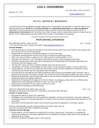 Hotel Resume Resume Hotel Manager Eliving Co