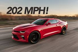 2016 chevy camaro ss 2016 chevy camaro ss tuned by hennessey reaches 202 mph