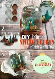 diy mini snow globes with printable gift tag uplifting mayhem