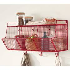 Wire Shelf Units Red Modular Wire Shelving Vivaterra