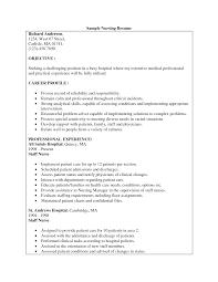 Sample Resume For Registered Nurse Position by Sample Resume For Staff Nurse Position Resume For Your Job