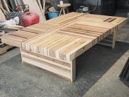 wood butcher block table buy a custom reclaimed wood butcher block puzzle table made to