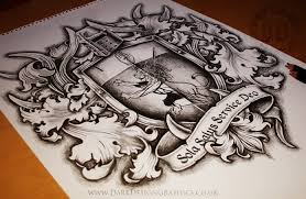 family coat of arms tattoo design dark design graphics graphic