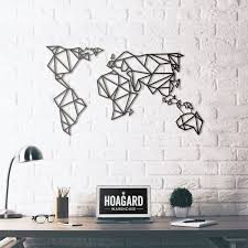 metal wall art world map hoagard metal wall art world map