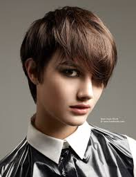 side bangs short hair hair style and color for woman