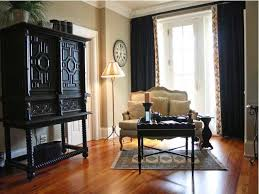 Drapes Living Room Navy Blue Curtains Bedroom Transitional With Red Accents Striped