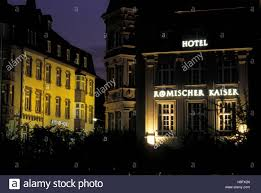 germany trier hotels at the porta nigra stock photo royalty