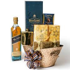 whiskey gift basket wash away the blues whiskey gift basket