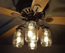 hunter mason jar ceiling fan mason jar ceiling fan light kit new quart jars the l goods