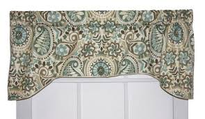 Turquoise Paisley Curtains Paisley Prism Curtain Collection Jacobean Paisley Window Toppers
